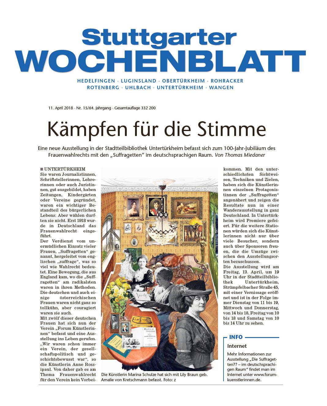 Stuttgarter wochenblatt bekanntschaft